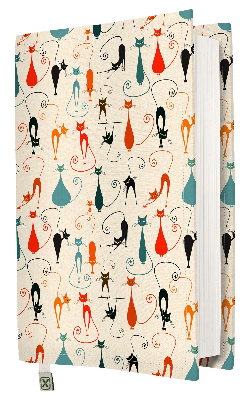 Kapax Kitap Kılıfı - Kediler - M - 31x21cm