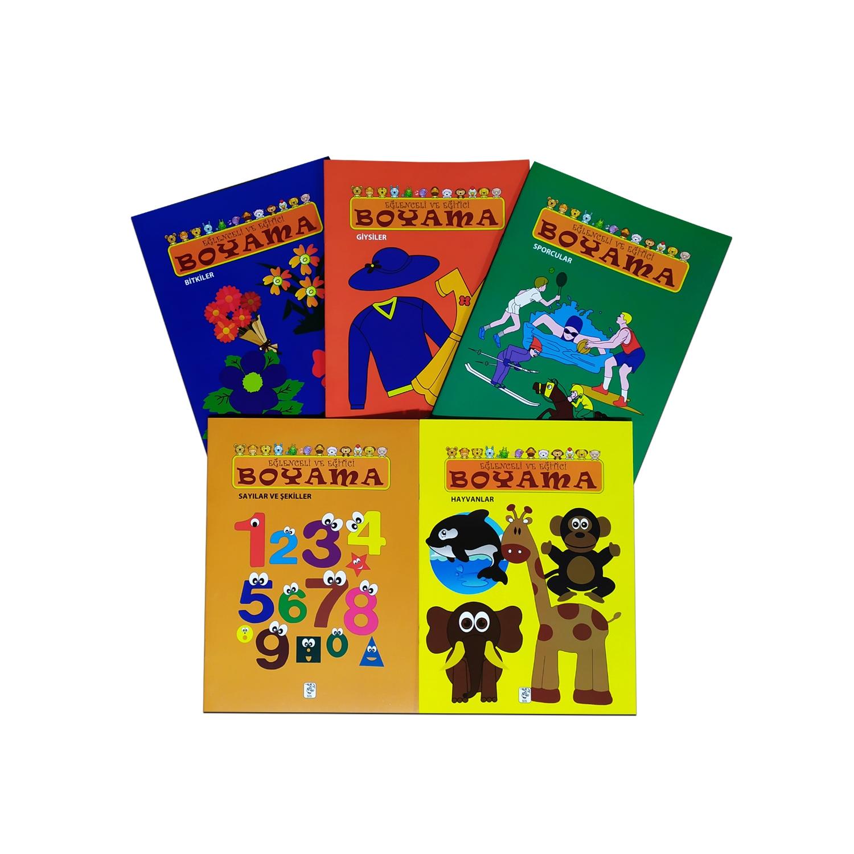 Eğlenceli ve Eğitici Boyama Seti (5 Kitap)
