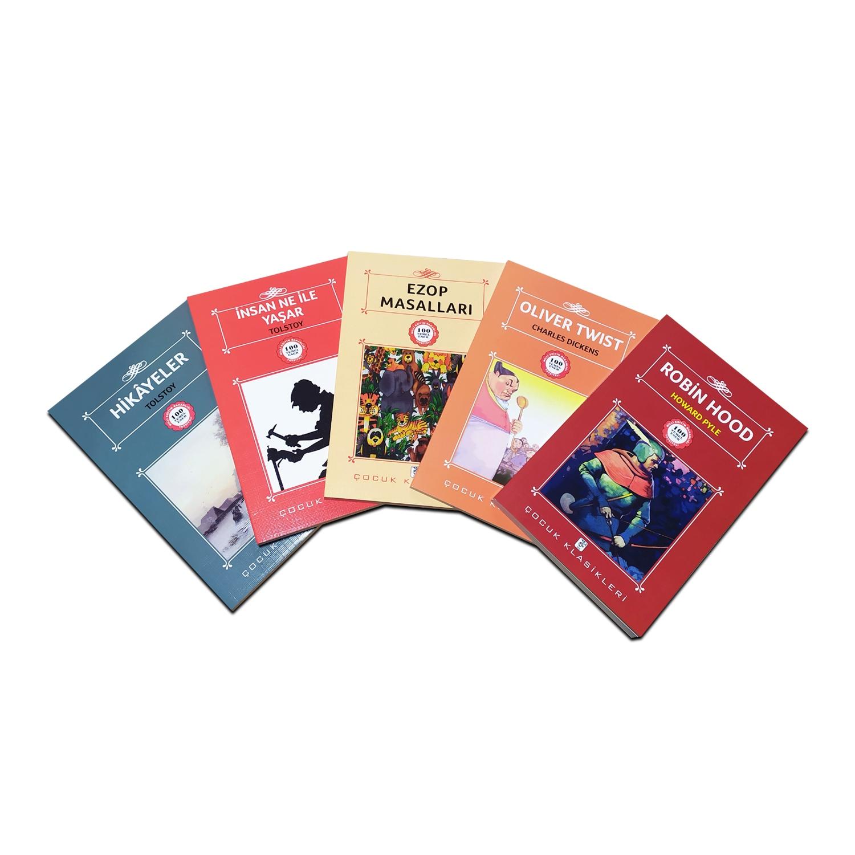Çocuklar İçin Dünya Klasikleri Seti 4  - 5 Kitap 9-12 Yaş