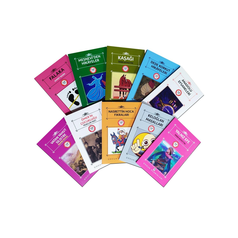 Çocuklar İçin Türk Klasikleri Seti 2 - 10 Kitap 9-12 Yaş