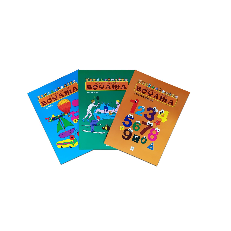 Eğlenceli ve Eğitici Boyama Seti - 3 Kitap