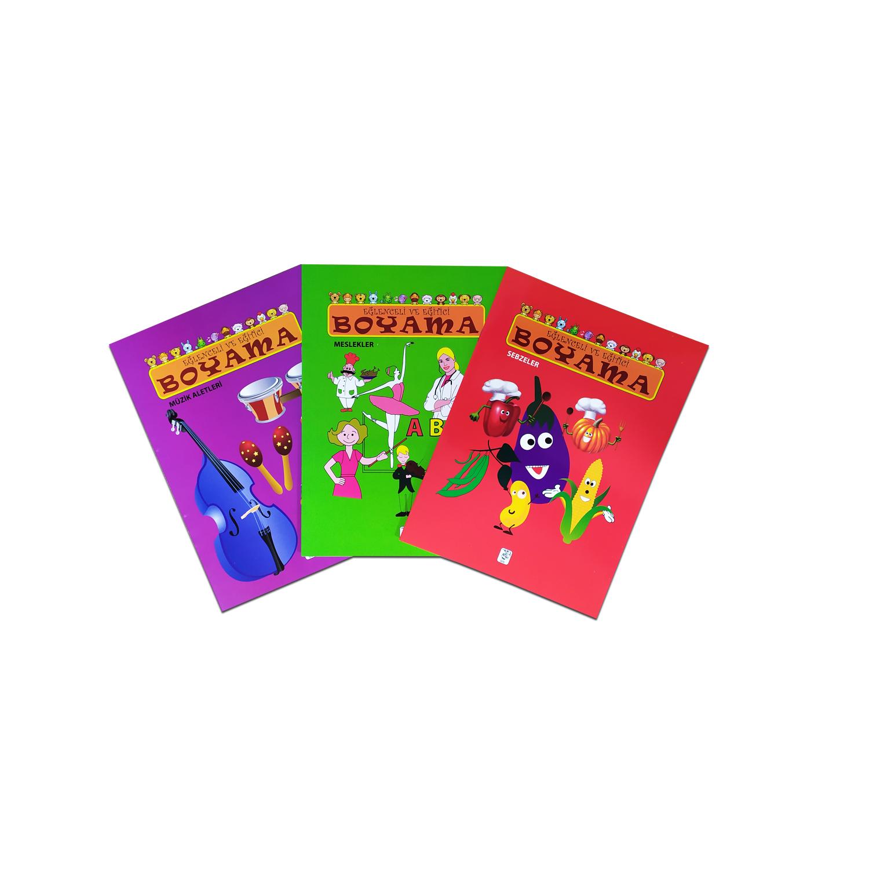 Eğlenceli ve Eğitici Boyama Seti 2 - 3 Kitap