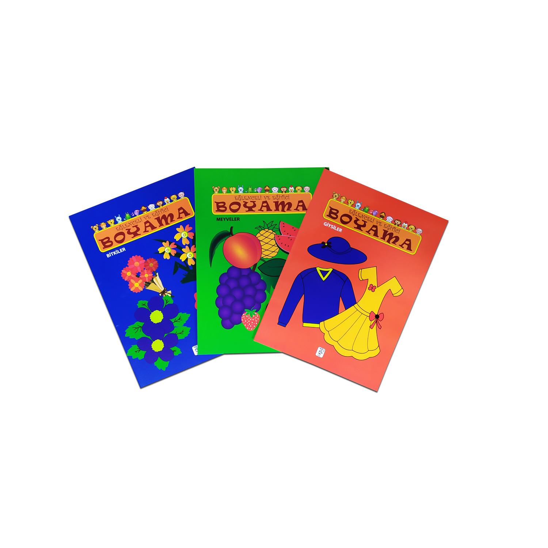 Eğlenceli ve Eğitici Boyama Seti 3 - 3 Kitap