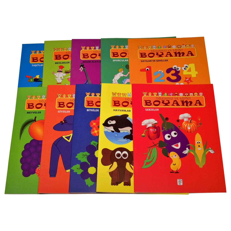 Eğlenceli Eğitici Boyama Seti 10 Kitap